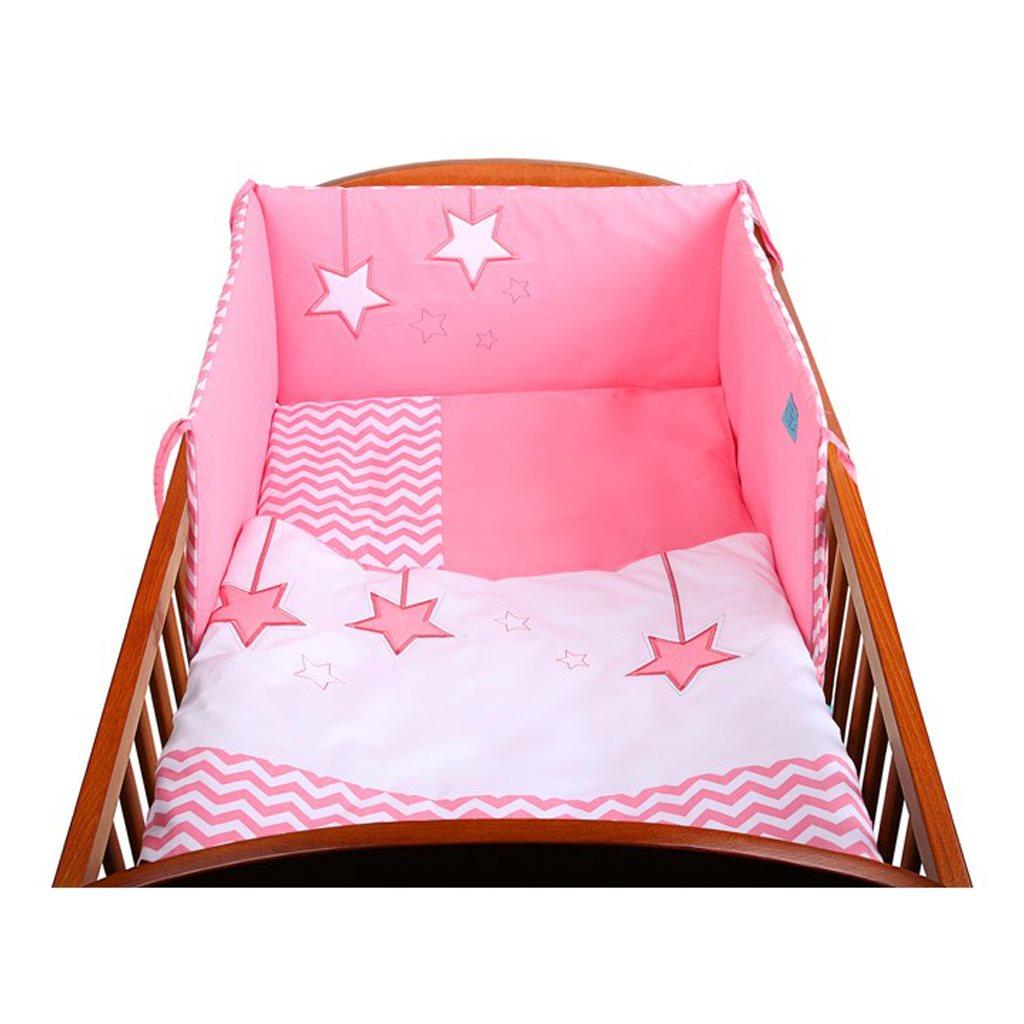 3-dielne posteľné obliečky Belisima Hviezdička 90/120 ružové