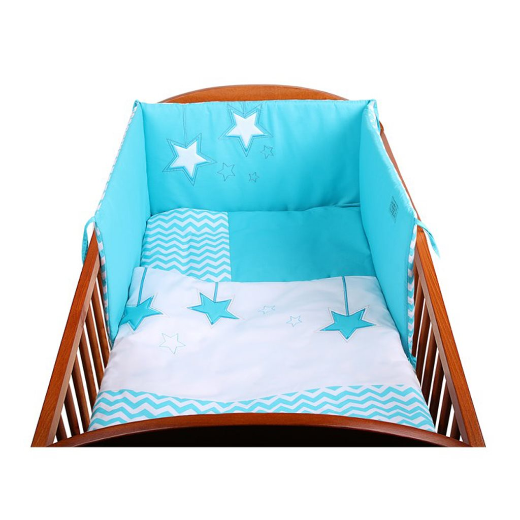 3-dielne posteľné obliečky Belisima Hviezdička 90/120 tyrkysové