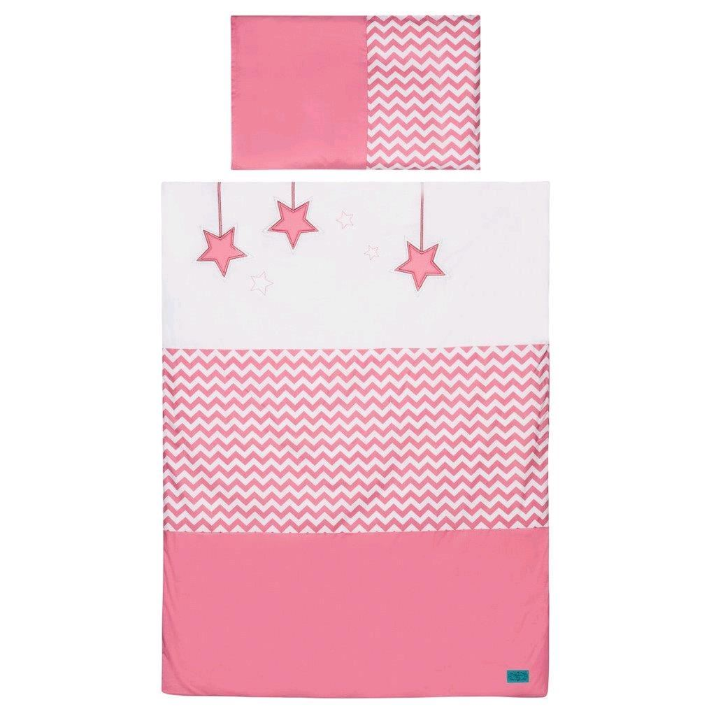 5-dielne posteľné obliečky Belisima Hviezdička 100x135 ružové