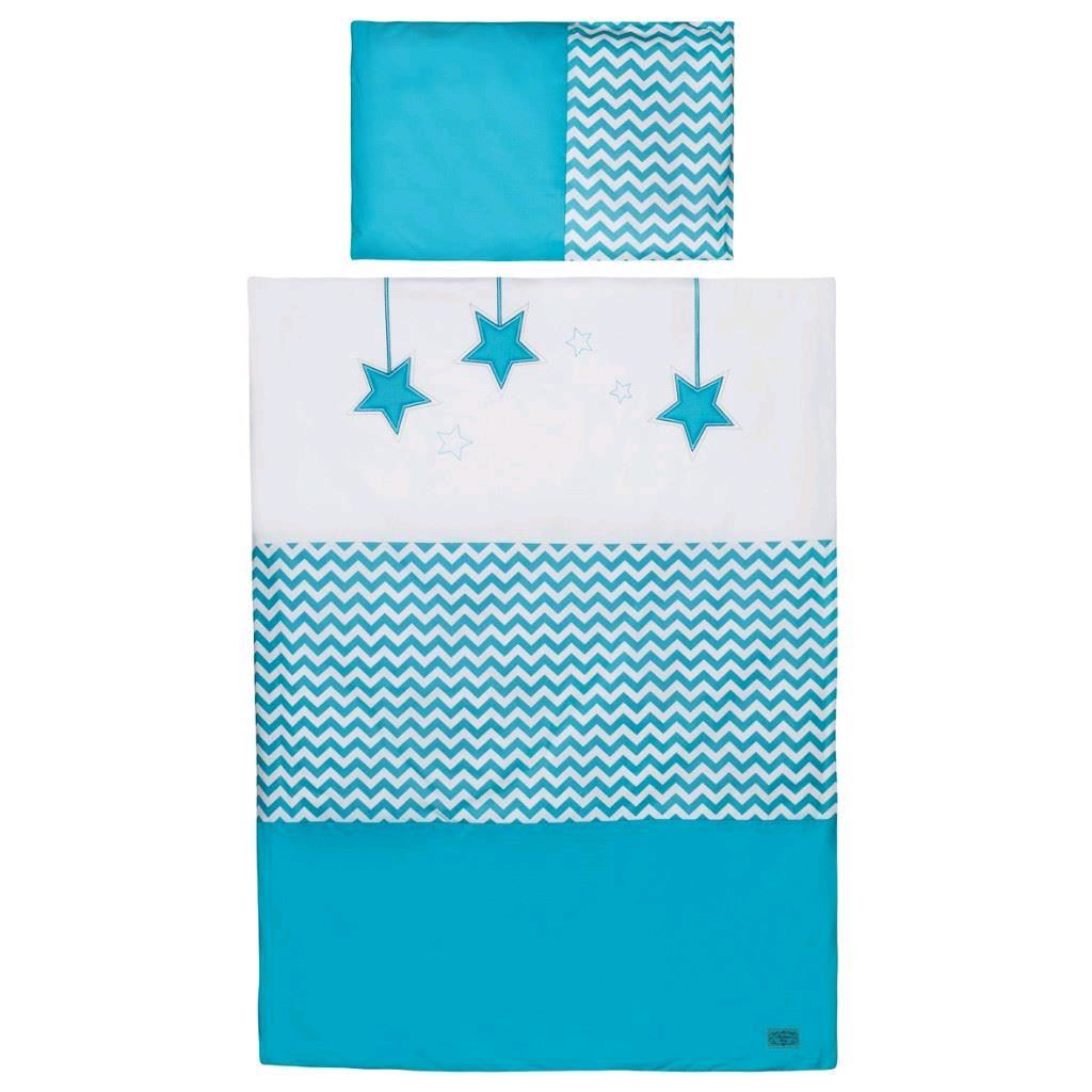 6-dielne posteľné obliečky Belisima Hviezdička 100x135 tyrkysové
