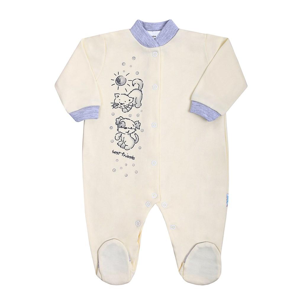 Dojčenský overal New Baby Kamaráti smotanový-86 (12-18m)