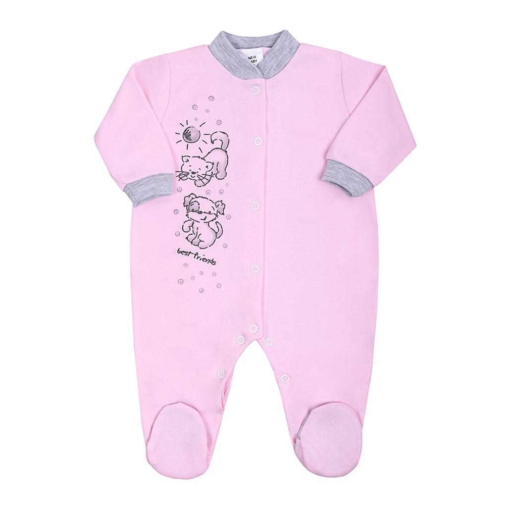 Dojčenský overal New Baby Kamaráti ružový-86 (12-18m)