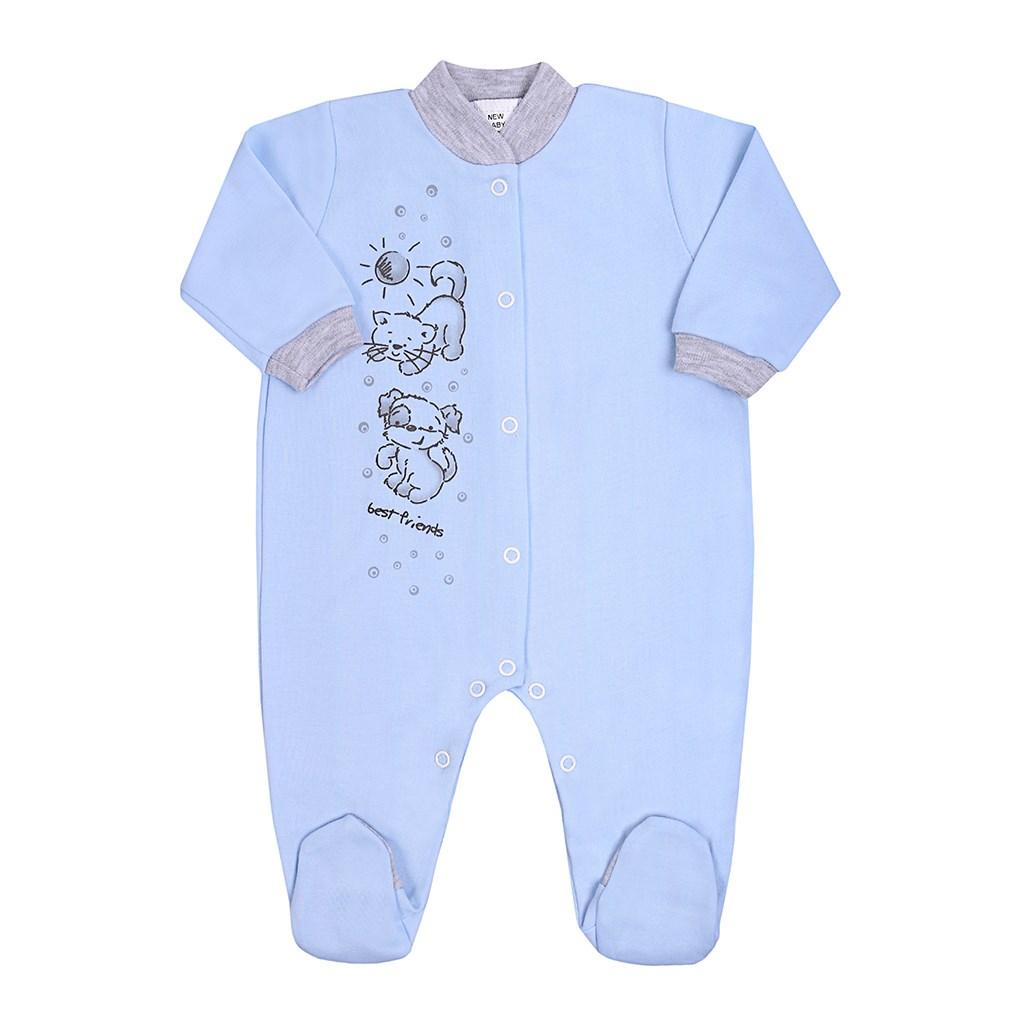 Dojčenský overal New Baby Kamaráti modrý-86 (12-18m)