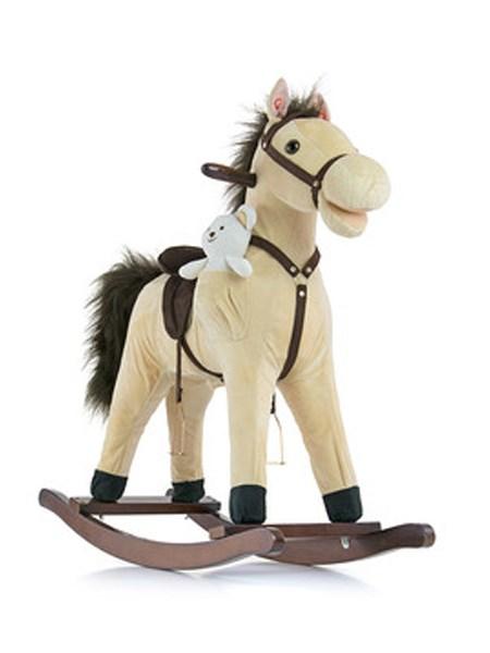 Hojdací koník s melódiou Milly Mally Mustang bežový