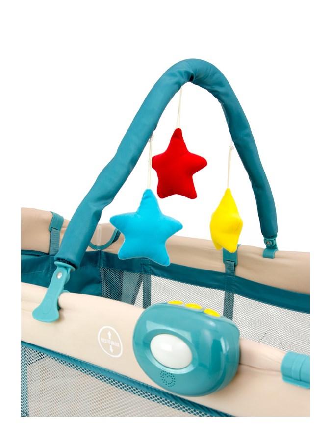 Cestovná postieľka Milly Mally Mirage Deluxe blue toys